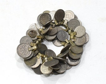 Coins Silver Kuchi Middle East Belly Dancing 50 Lot Silver Crafts Coins