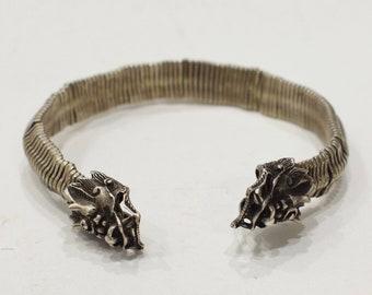 Bracelet Miao Hill Tribe Silver Dragon Cuff Bracelet