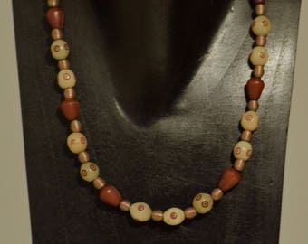 Necklace India Buri Nut Beads African Copper Beads Handmade Short Suit Casual Fun Jewelry Necklace
