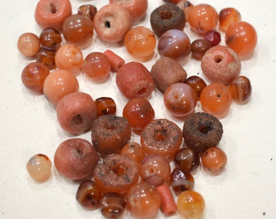 Beads Carnelian Mixed Bag Round Beads 10-17mm