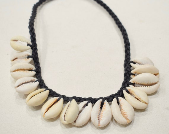 "African Cowrie Shell Choker 14"" or Anklet 12"""