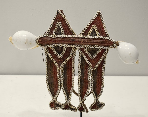 Papua New Guinea Fofana Male Shell Chest Ornament Benabena Tribe