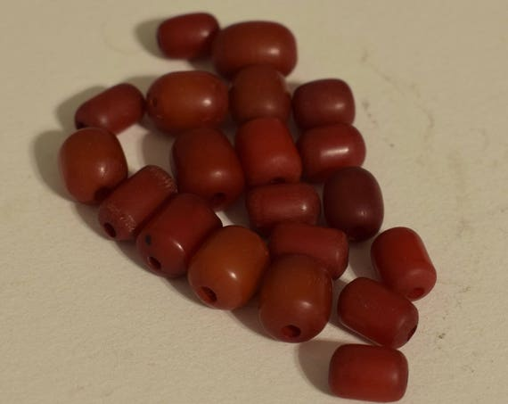 Beads Philippine 12mm Burgundy Buri Nut Oval Nut Beads