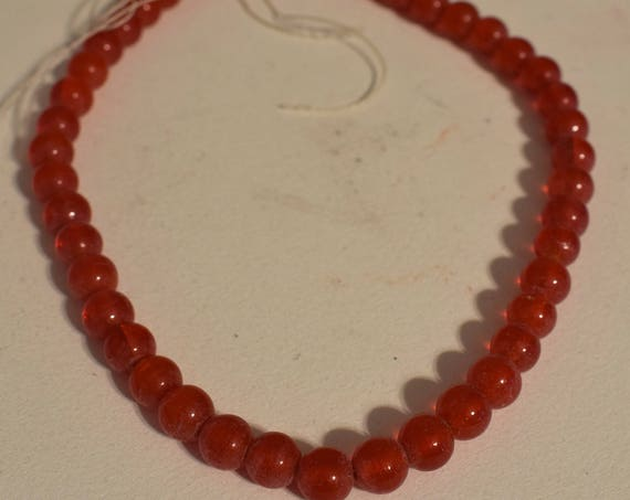 Beads India Red Round Glass Beads Jewelry Necklace Bracelet Earrings Glass Beads