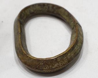 Bracelet Currency Cast Bronze Oval Men's Bracelet Mali