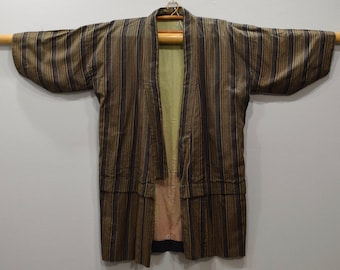Kimono Japanese Black Yellow Kimono