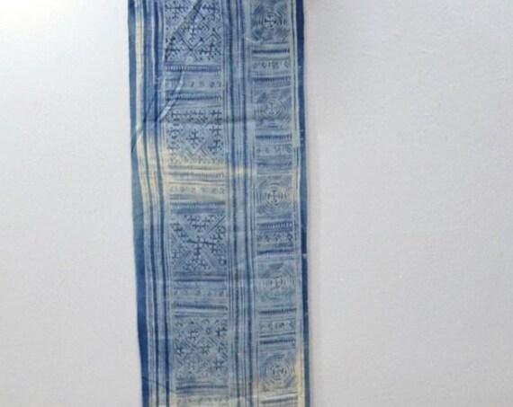 Chines Miao Indigo Blue Handmade Design Ceremonial Indigo Cloth