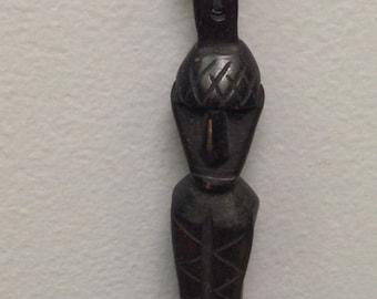 Necklace Borneo Dayak Ancestor Wood Amulet Necklace
