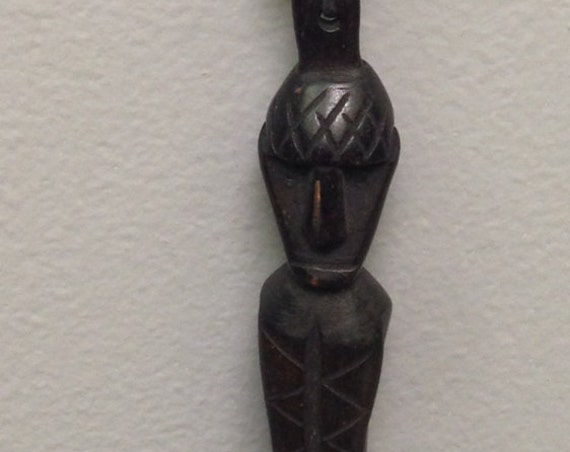 Necklace Borneo Dayak Ancestor Wood Amulet Necklace