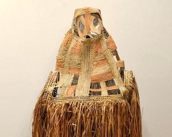 Asmat Jipae Ceremonial Woven Body Mask Irian Jaya