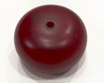 Beads Deep Red Copal Amber Beads 32mm