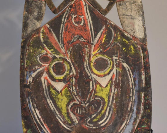 Papua New Guinea Headdress Abelam Balsa Wood Dance Colorful Yam Ceremony Headdress