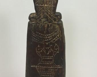 Papua New Guinea Ladle Siassi Etched Wood Siassi Island Clan Household Ladle