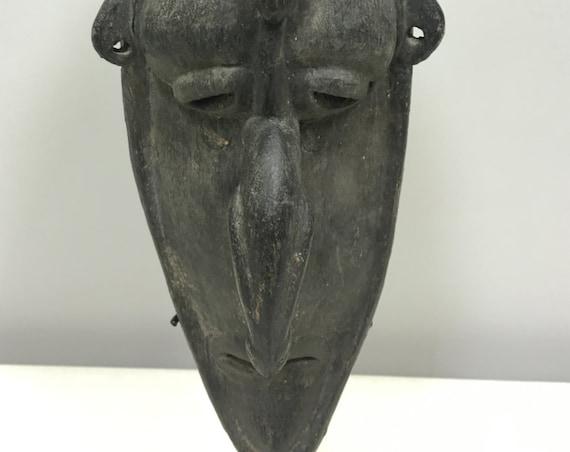 Papua New Guinea Mask Barak/Boiken Black Wood Ceremonial Barak Mask