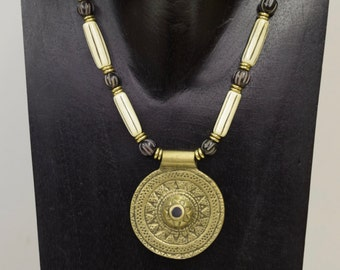 Necklace Vintage Brass Naga Pendant Necklace