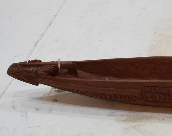 Papua New Guinea Canoe Wooden Hand Carved Childs Toy Canoe