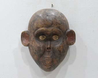 African Mask Monkey Face Bulu Tribe Cameroon