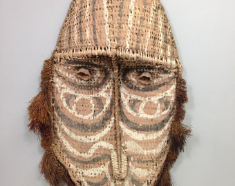 Mask Papua New Guinea Gable Woven Rattan Mask