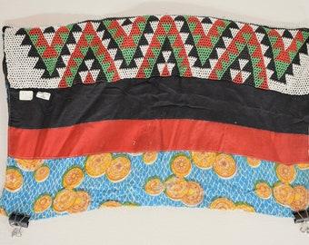 African Zulu Old Beaded Waist Apron Panel South African Beaded Apron Panel