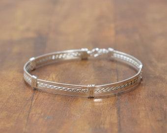 Bracelet Plated Silver Bangle Bracelet