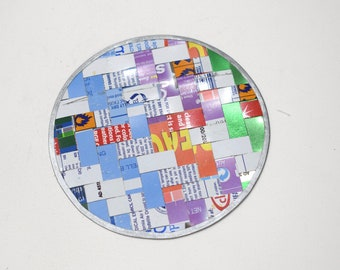 """Coasters India Assorted Recycled Tin Woven Coasters 5"""""""