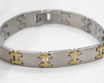 Bracelets Stainless Steel Brass Clasp Linked Bracelets