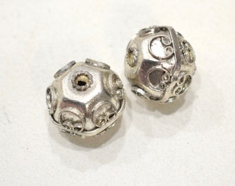 Beads India Silver Plated Beads 22-23mm