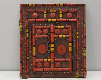 India Wooden Door Double Opening Center Colorful Wood Door