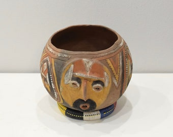 Papua New Guinea Ceramic Clay Pot Abelam Tribe Painted Clan Designs