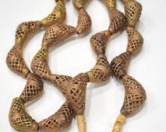 Beads African Brass Elbow Beads 33mm-38mm