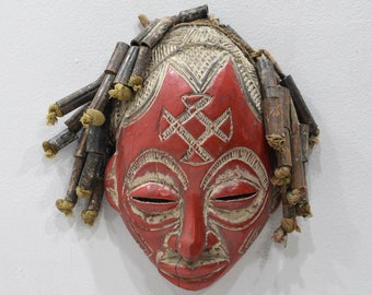 African Mask Chokwe Tribe Mask