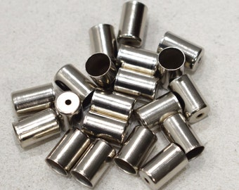Beads Silver Metal Rectangular Bead Caps 12mm