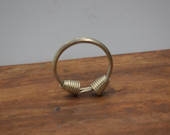 Chinese Bracelet Miao Silver Coil Bangle