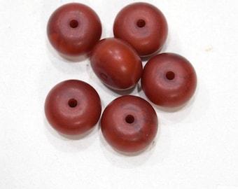 Beads Dark Orange Copal Amber Beads 17-18mm