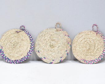 Basket African Ethiopian Eritrea Tray Set of 3  9 X 8.5