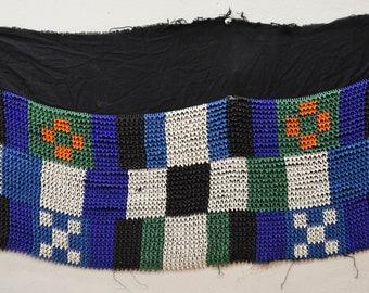 African Zulu Old Beaded Womens Shawl