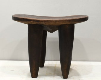 African Senufo Stool Washstand Wood Carved Cote' d'Ivoire Senufo Washstand