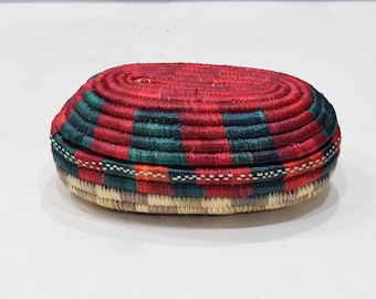 Basket African Ethiopian Gurage Grass Woven Basket