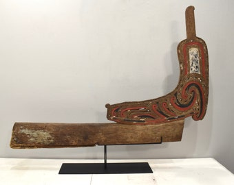 Papua New Guinea Wave Splitter Trobriand Massim Canoe Wave Splitter