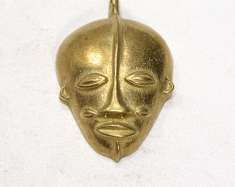 Beads African Brass Large Mask 61mm