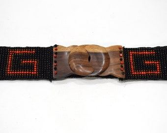 Belts Indonesian Beaded Stretch Assorted Patterned Belts