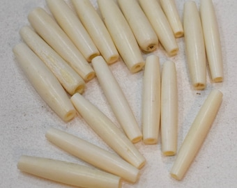 Beads Indonesian Bone Tubes Vintage Beads 38mm