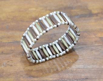 Bracelet Matte Gold Silver Copper Stretch Bracelet