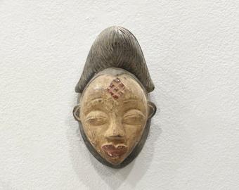 African Mask Punu Tribe Female Passport Mask Gabon
