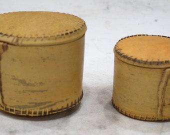 African Gourd Bark Box 2 Piece Set Bamana Mali
