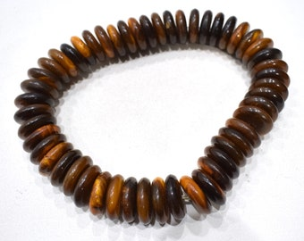 Beads Philippine Brown Horn Disc Beads 24-25mm
