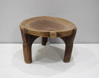 African Stool Gogo Tribe Tanzania Carved Wood Prestige Stool