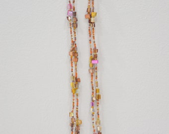 Necklace Mother of Pearl Glass Strand Necklace