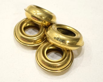 Beads Brass Grooved Metal Round Rings 30mm