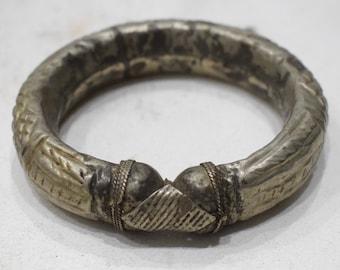 Bracelet Bedouin Silver Cuff Armlet Tribal Old Bracelet